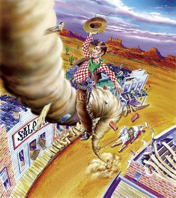 Riding the cyclone, Pecos style!
