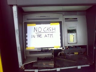Now that's what I call a broken ATM.