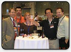 at the us recepetion at wwpc 2006. from the left...yours truly, vlad mazek, amy luby, mitchel weiss & dave sobel.