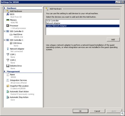 This is your virtual machine. This is your virtual machine on legacy.