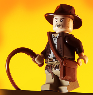 This minifig woul dhave been more believable as Indiana Jones than Harrison Ford. Seriously.