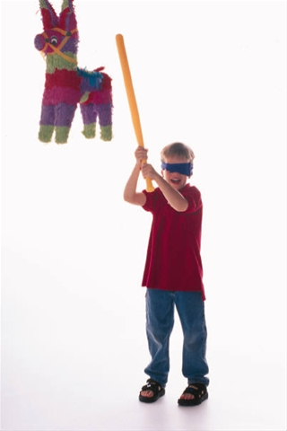 All I know is...whenever there's a pinata at a birthday party...someone's getting hit in the face with the stick. It's like a law of nature or something.