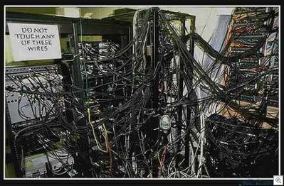 Sadly enough, I've seen too many server and wiring closets in mid-market organizations that looked just like this.