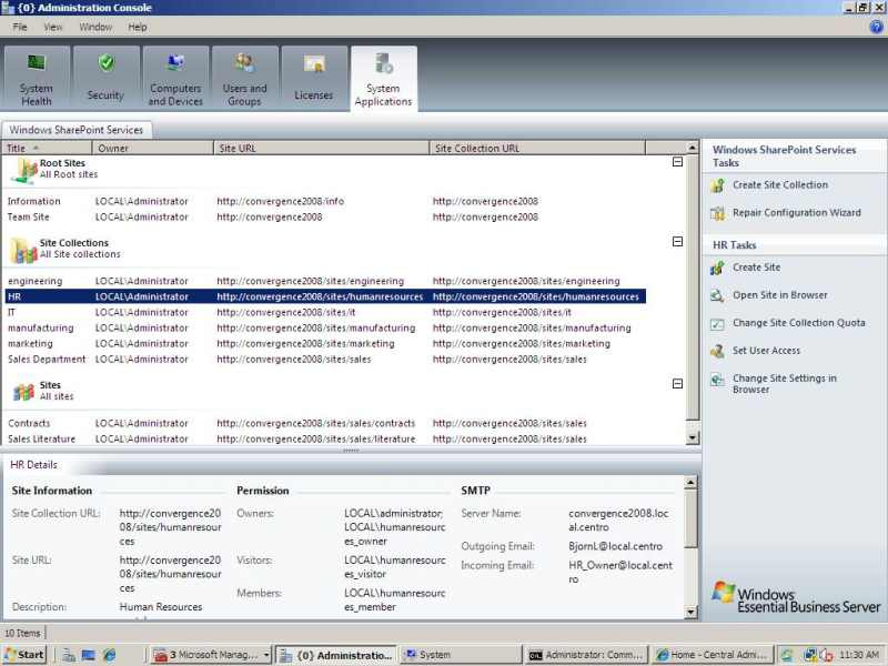 Coupon server installed by enterprise policy